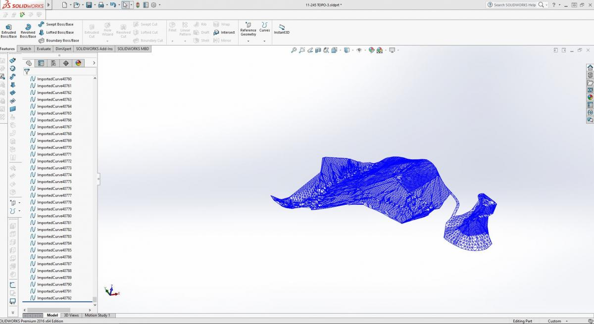 Solidworks 3D Import of SRF-View layer from topo DWG.JPG